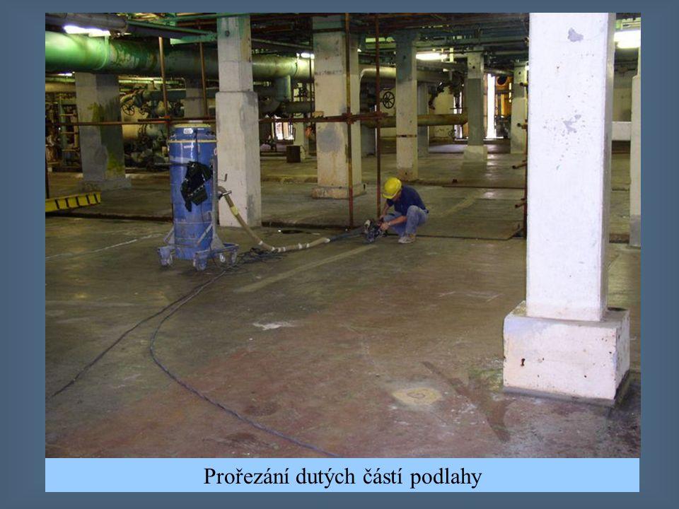 Zakázka pro firmu Spolana a.s. Jde o rekonstrukci podlahy v hale, kde se vyrábí chlór (elektrolýza). Použitá technologie: stěrkové epoxidové podlahy a