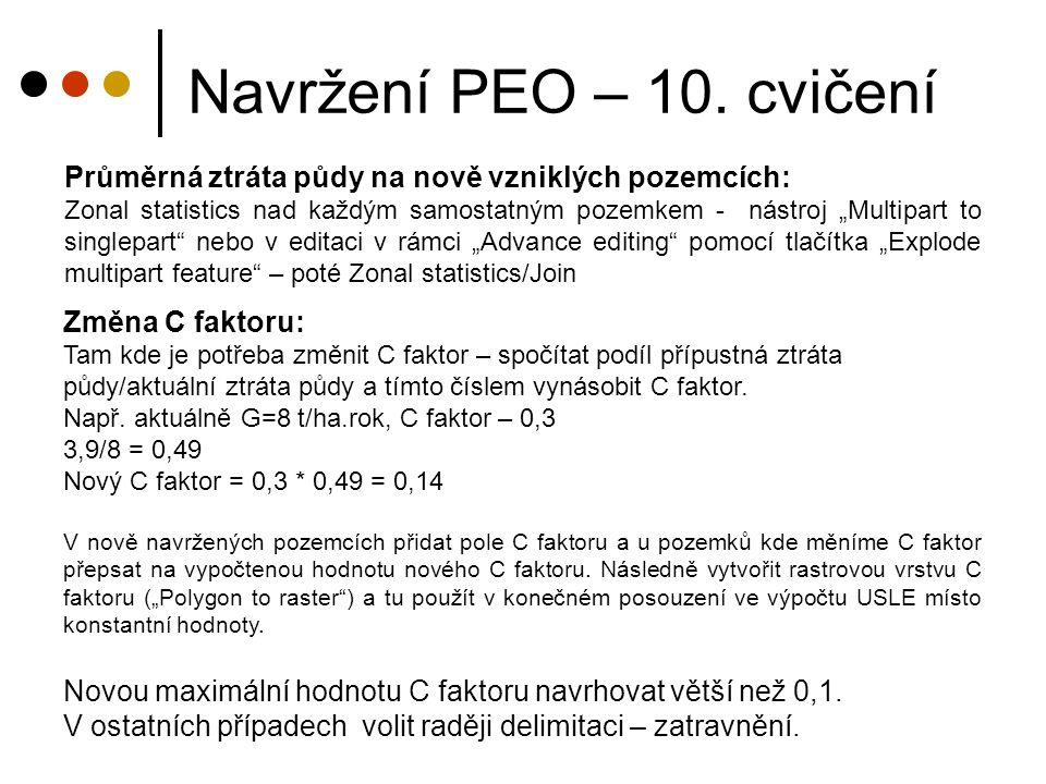 Zadání: Vypočítejte návrhové parametry (objem odtoku, průtok) pro následující navržené technické PEO: -1 sběrný vsakovací průleh -1 sběrný odváděcí průleh + 1 svodný příkop/průleh (odpovídající část navazující na odváděcí prvek) Výpočet proveďte pomocí metody CN křivek, intenzitní metody a pomocí programu SMODERP.