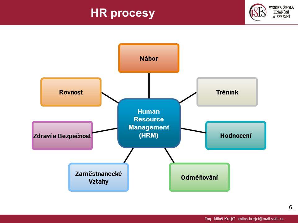 6.6. HR procesy Ing.