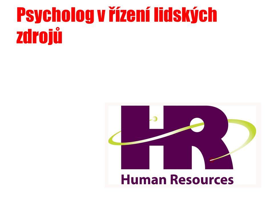 Psycholog v řízení lidských zdrojů