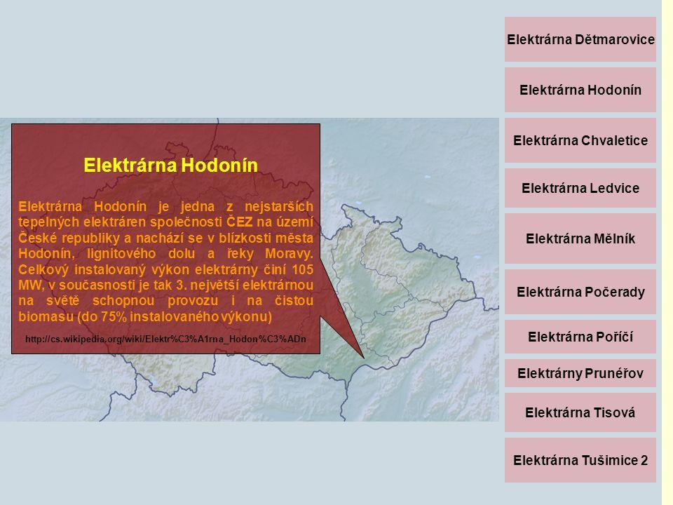 Elektrárna Dětmarovice Elektrárna Hodonín Elektrárna Chvaletice Elektrárna Ledvice Elektrárna Mělník Elektrárna Počerady Elektrárna Poříčí Elektrárny