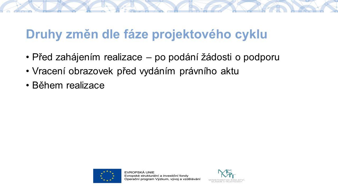 Žádost o změnu v ISKP Výhradně prostřednictvím ISKP Levý sloupec Vytvořit žádost o změnu: