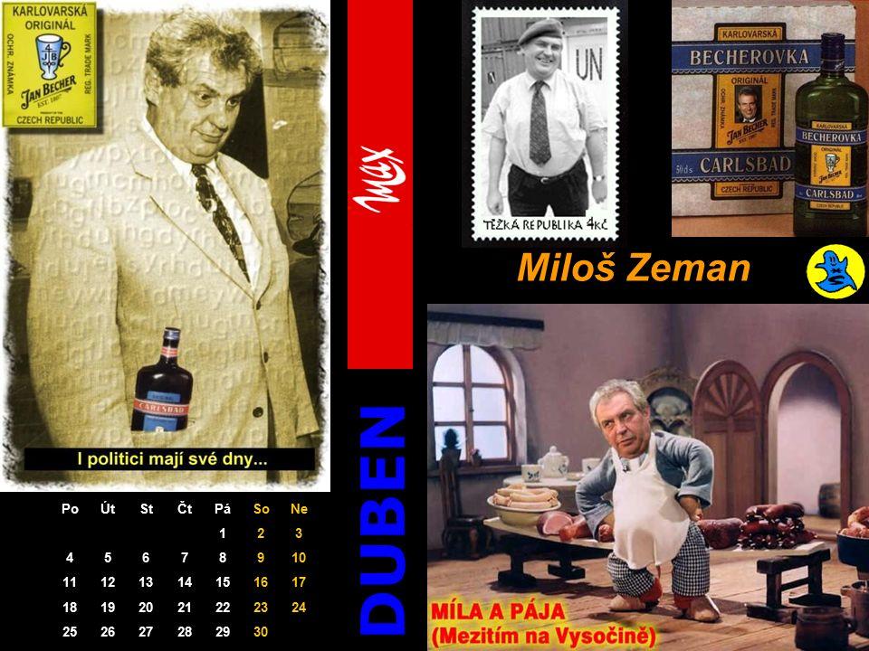 DUBEN Miloš Zeman PoÚtStČtPáSoNe 123 45678910 11121314151617 18192021222324 252627282930