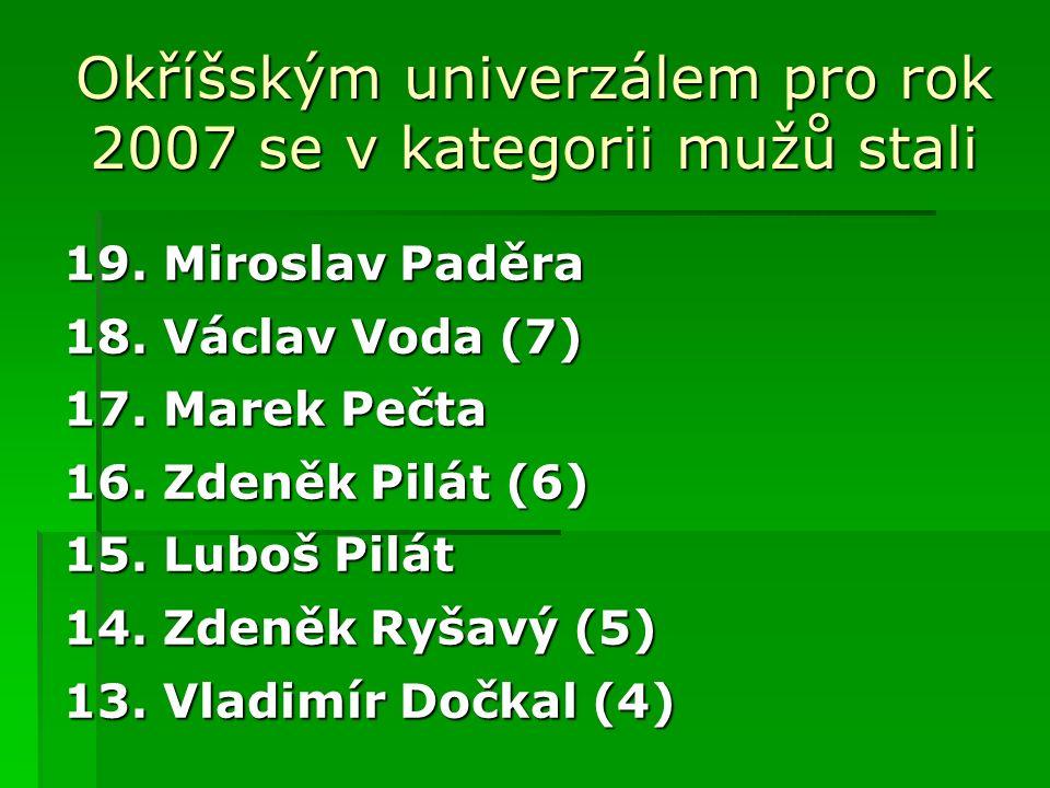 CELKOVÉ POŘADÍ muži 34. Josef Lukeš(10) 32. Michal Hauser 32.