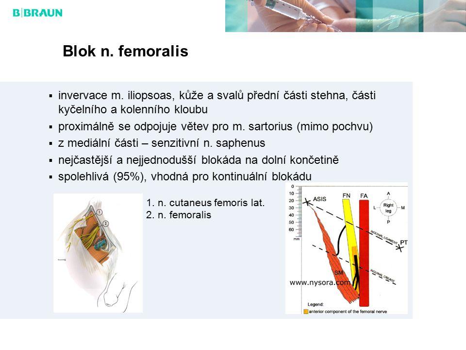 Blok n.femoralis  invervace m.