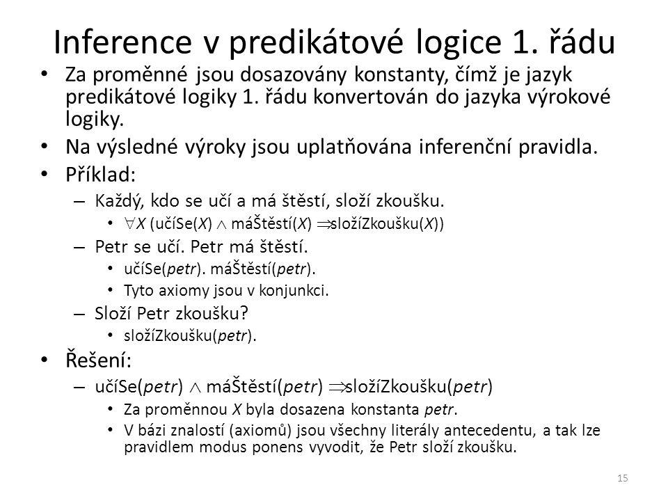 Inference v predikátové logice 1.