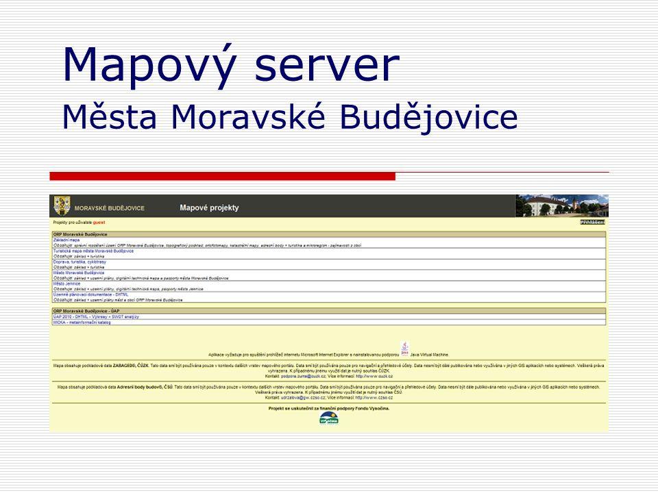 Mapový server Města Moravské Budějovice
