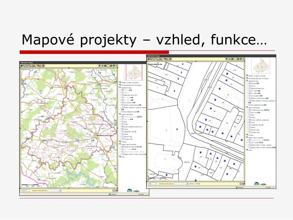 Mapové projekty – vzhled, funkce…