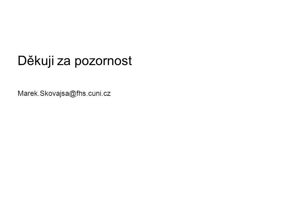 Děkuji za pozornost Marek.Skovajsa@fhs.cuni.cz