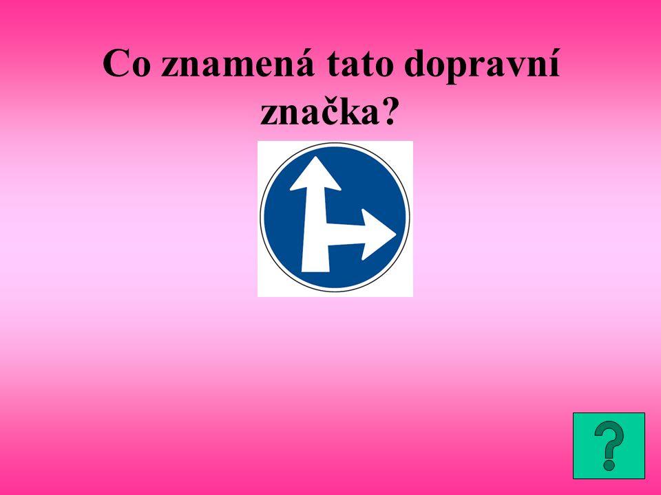 Co znamená tato dopravní značka?