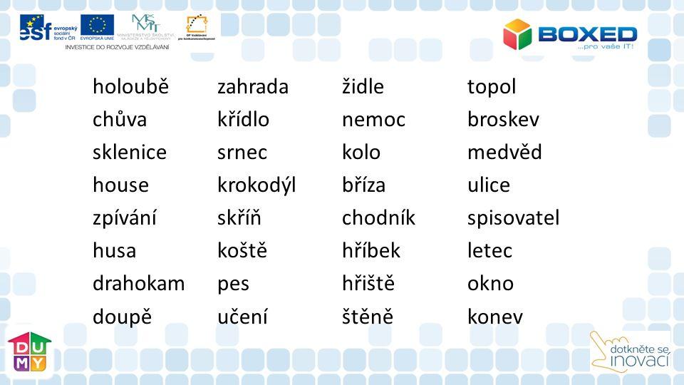 Metodický pokyn Popis práce s materiálem  Materiál je určen pro práci s interaktivní tabulí a tablety  Žáci si nejprve zopakují vzory podstatných jmen a jejich skloňování.
