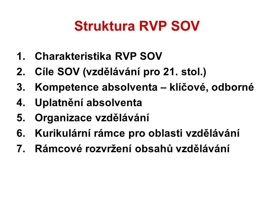 Struktura RVP SOV - pokračování 8.