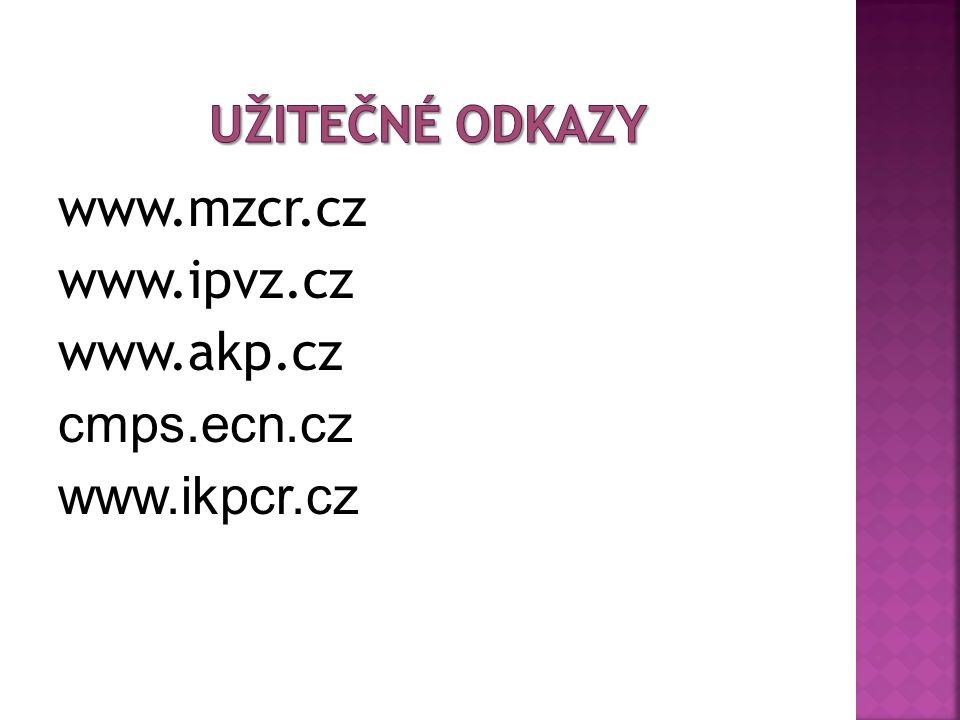 www.mzcr.cz www.ipvz.cz www.akp.cz cmps.ecn.cz www.ikpcr.cz