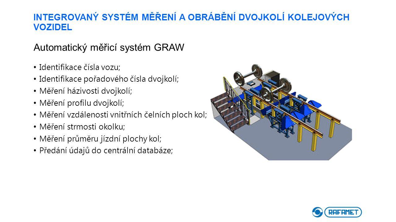 INTEGROVANÝ SYSTÉM MĚŘENÍ A OBRÁBĚNÍ DVOJKOLÍ KOLEJOVÝCH VOZIDEL Automatický měřicí systém GRAW Identifikace čísla vozu; Identifikace pořadového čísla