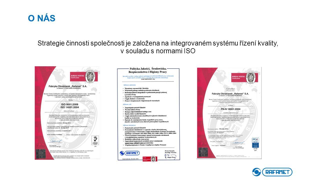 О NÁS Strategie činnosti společnosti je založena na integrovaném systému řízení kvality, v souladu s normami ISO