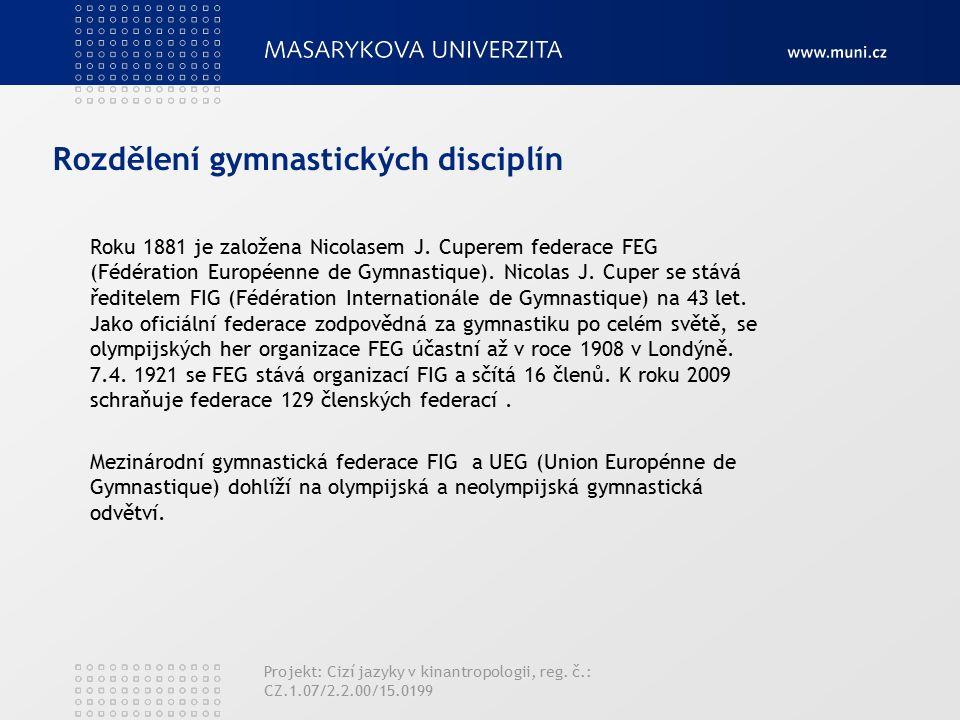 Rozdělení gymnastických disciplín Roku 1881 je založena Nicolasem J.