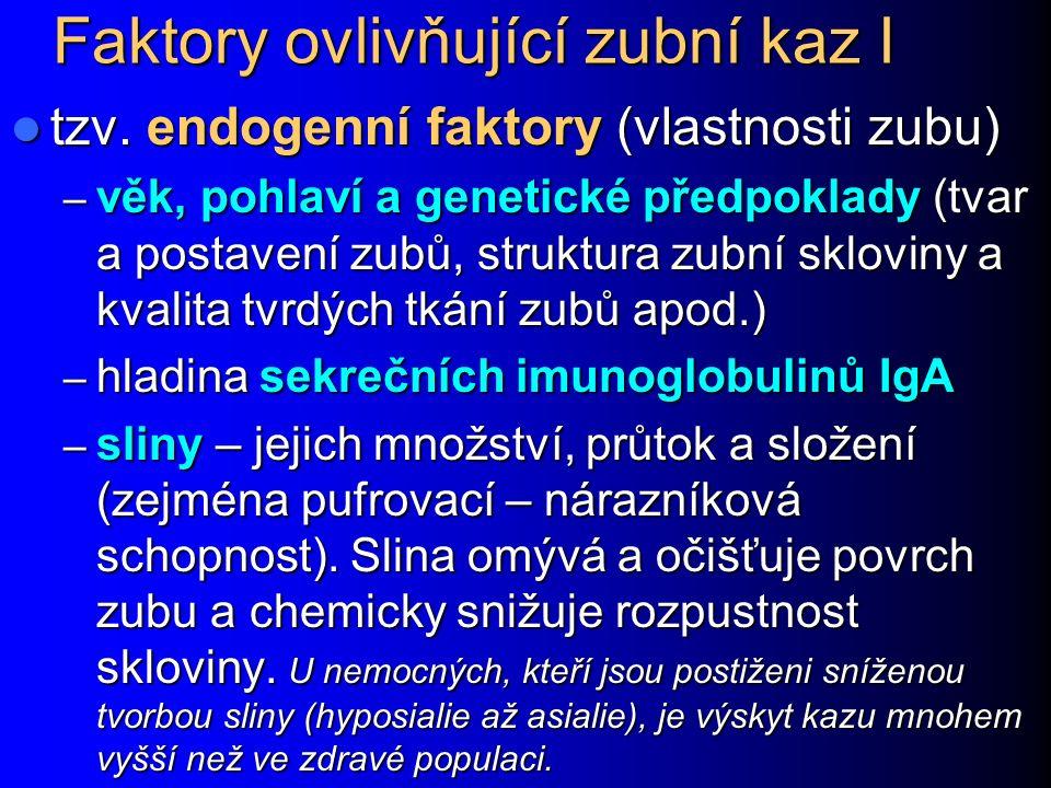 Mikrobiologické testování rizika kazu Existují soupravy, umožňující například semikvantitativní hodnocení množství streptokoků S.