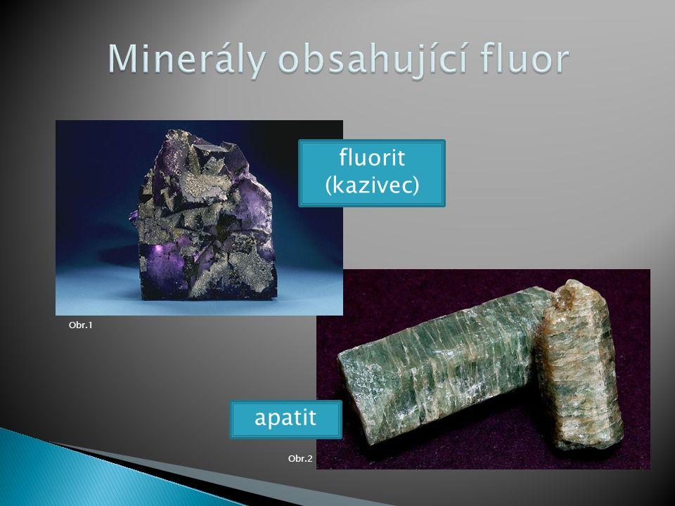 Obr.2 Obr.1 fluorit (kazivec) apatit