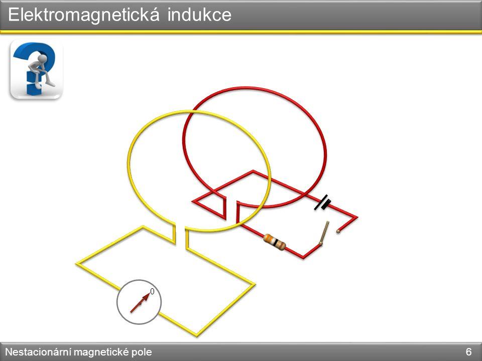 Elektromagnetická indukce Nestacionární magnetické pole 6 0