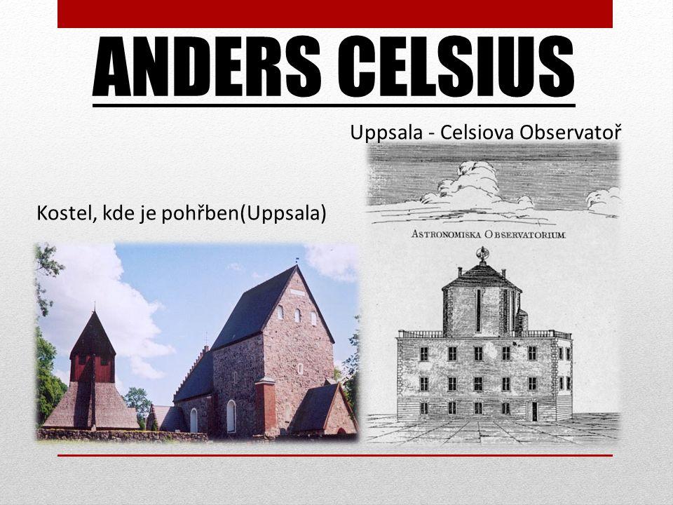 ANDERS CELSIUS Uppsala - Celsiova Observatoř Kostel, kde je pohřben(Uppsala)