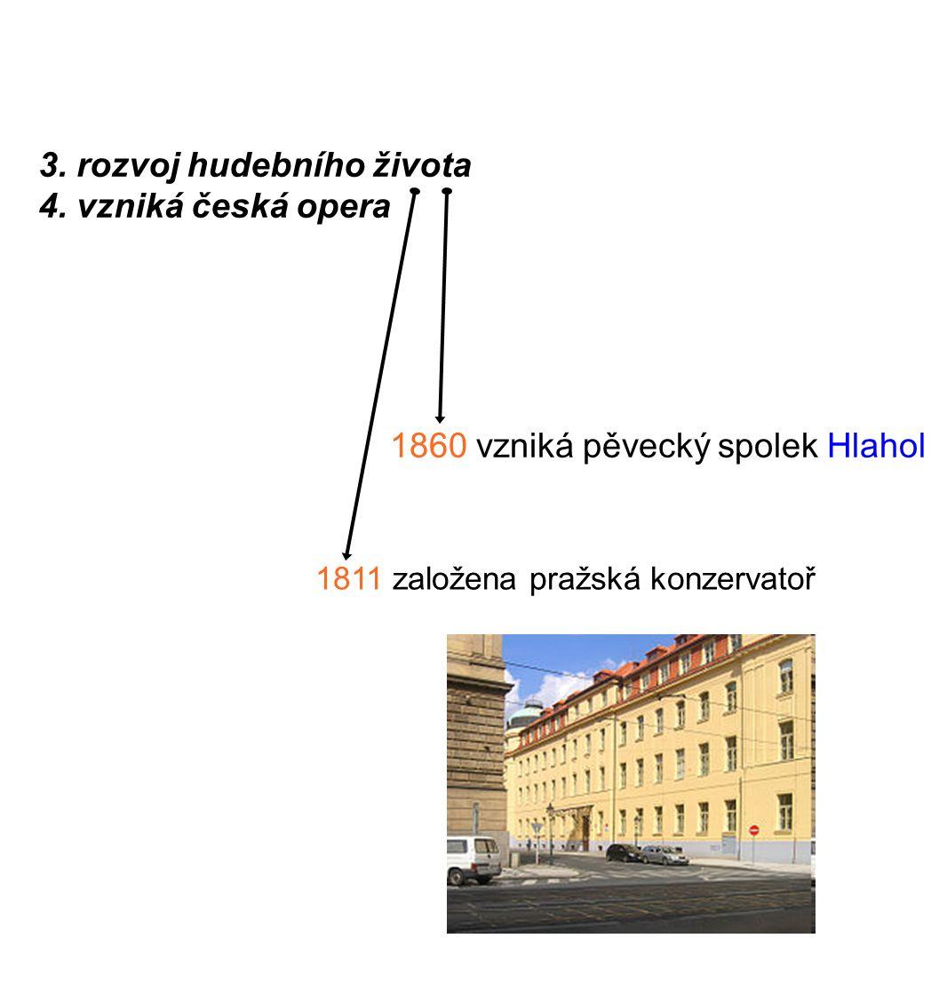 - hlavní představitelé: B. Smetana, A. Dvořák, Z. Fibich