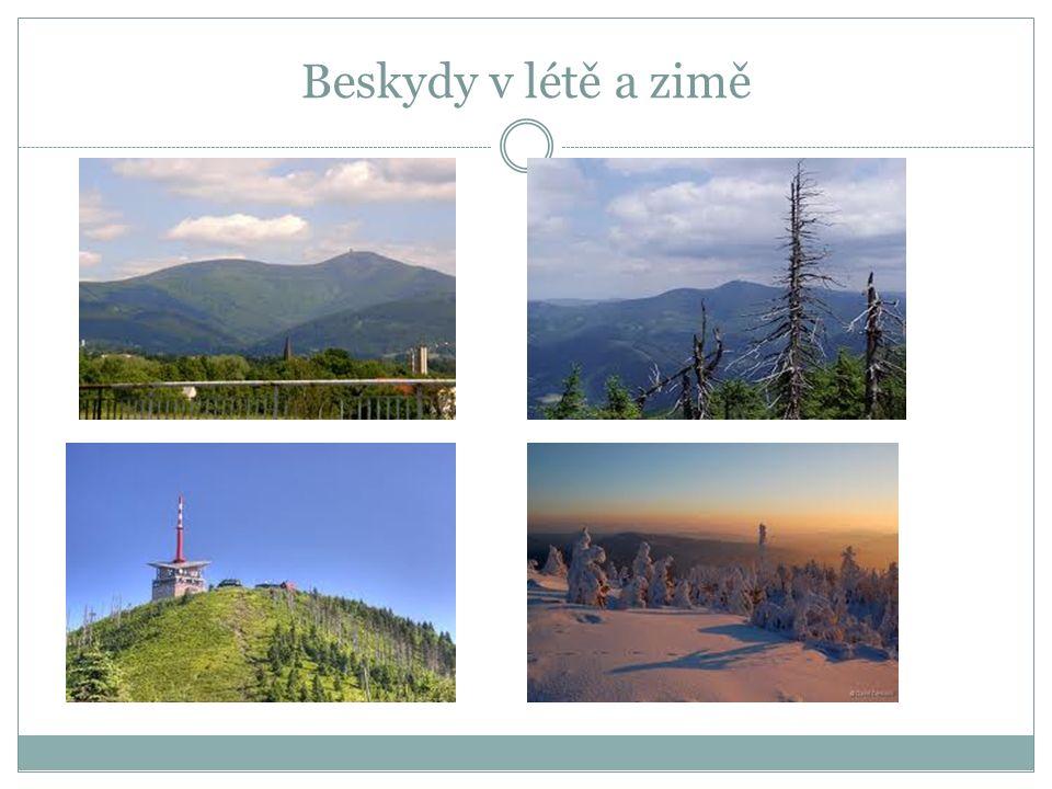 MORAVSKOSLEZSKÉ BESKYDY Na Moravě při hranicích se Slovenskem leží Moravskoslezské Beskydy s nejvyšším vrcholem Lysá hora.