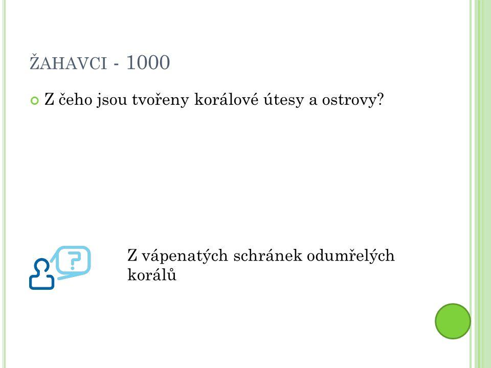 ŽAHAVCI - 2000 Co je to regenerace? Obnovovací schopnost. Nahrazení ztracených částí těla.