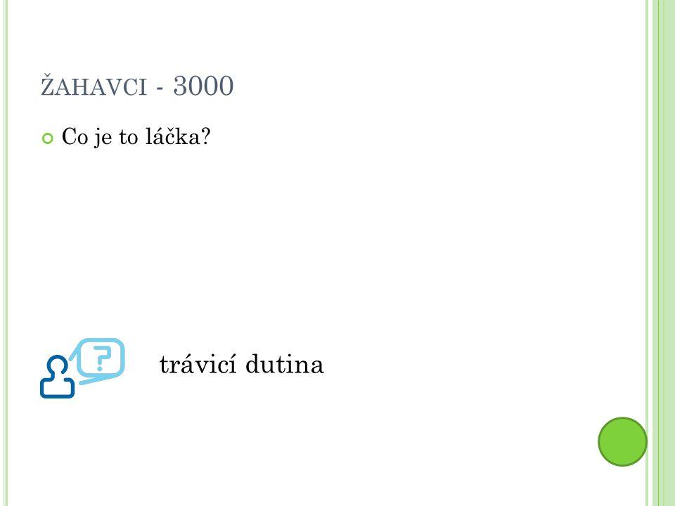 ŽAHAVCI - 3000 Co je to láčka trávicí dutina