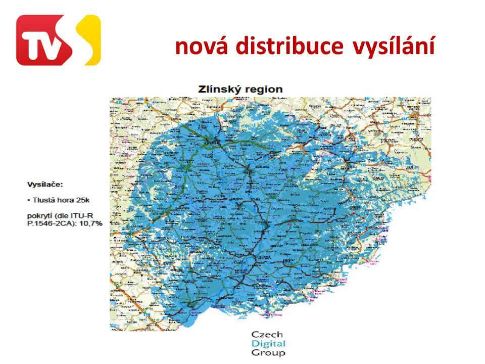 nová distribuce vysílání