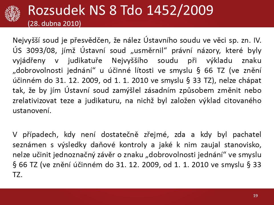 Rozsudek NS 8 Tdo 1452/2009 (28.