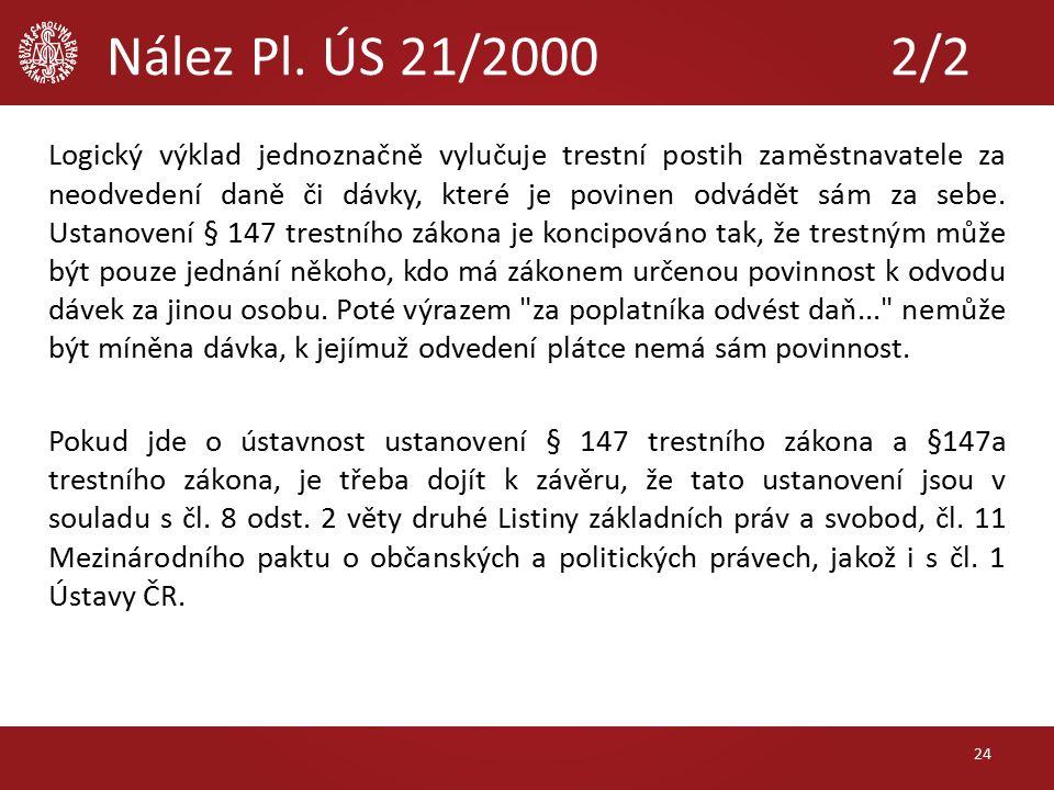 Nález Pl.