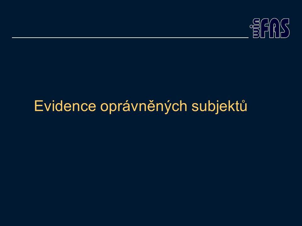 Evidence oprávněných subjektů
