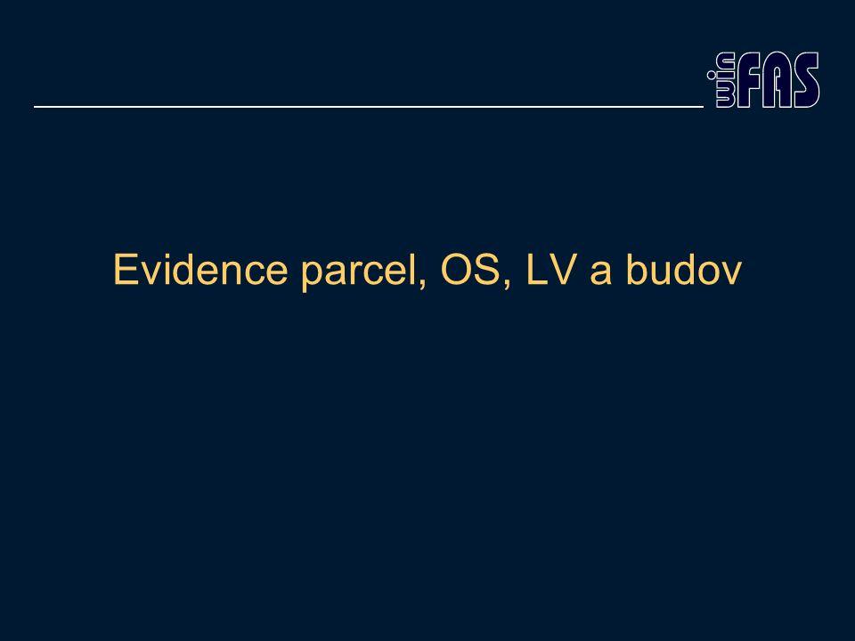 Evidence parcel, OS, LV a budov