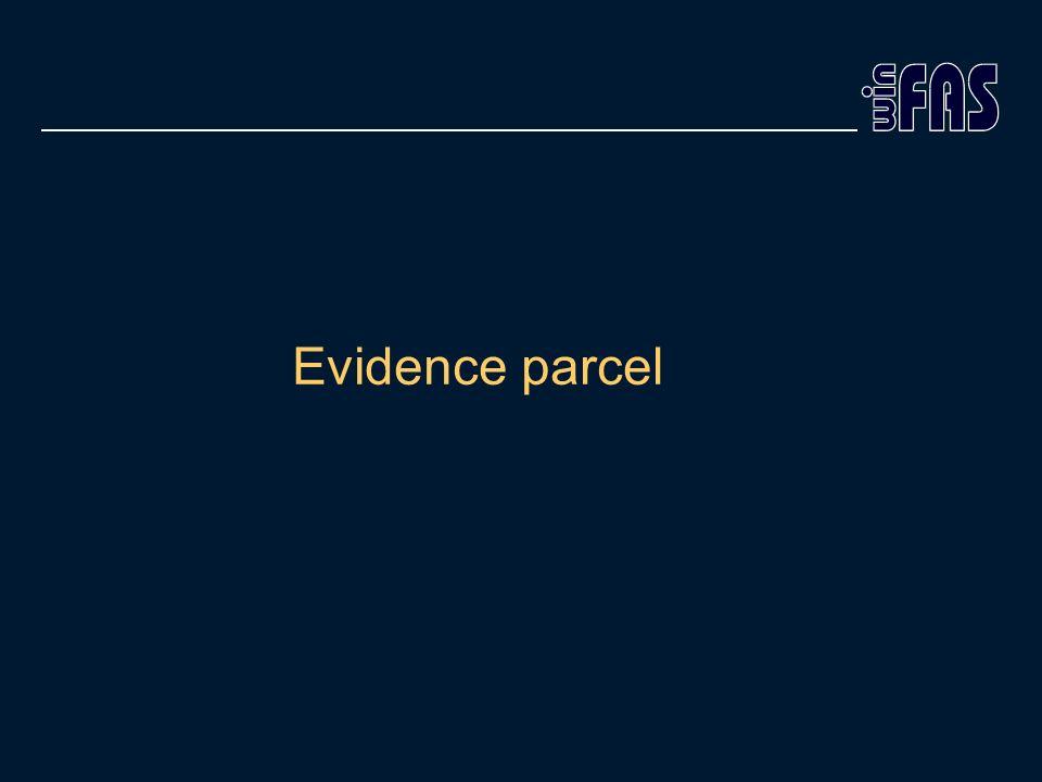 Evidence parcel
