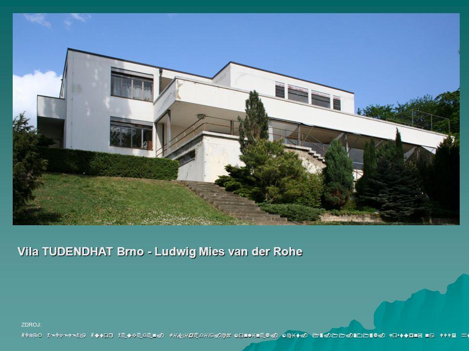 Vila TUDENDHAT Brno - Ludwig Mies van der Rohe AUTOR NEUVEDEN, Autor Neuveden.