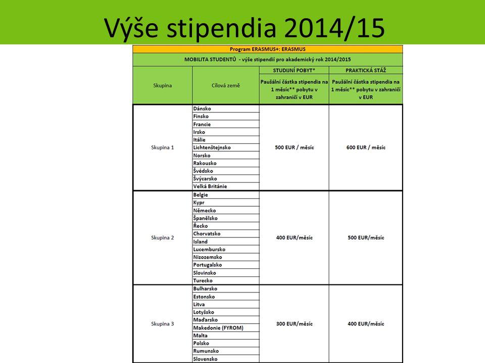 Výše stipendia 2014/15 strana 36