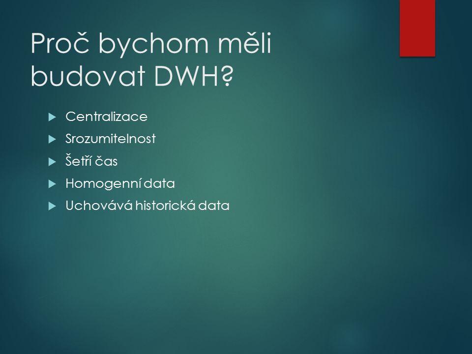 Proč bychom měli budovat DWH.