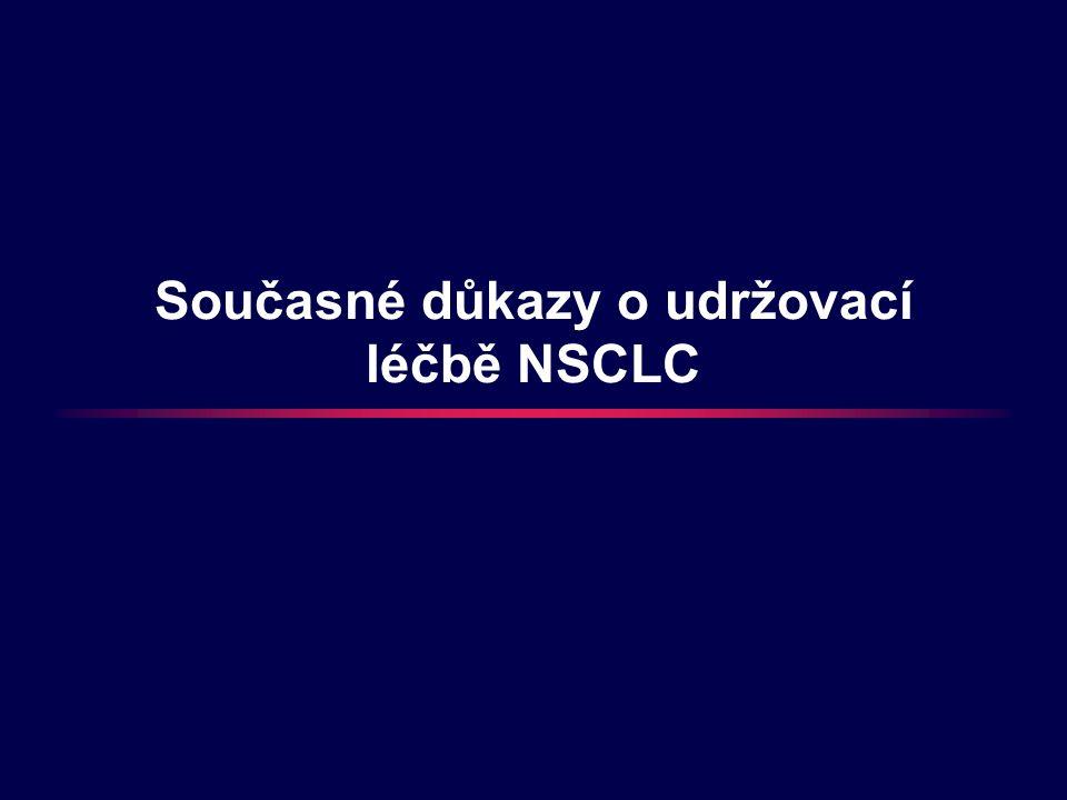 Současné důkazy o udržovací léčbě NSCLC