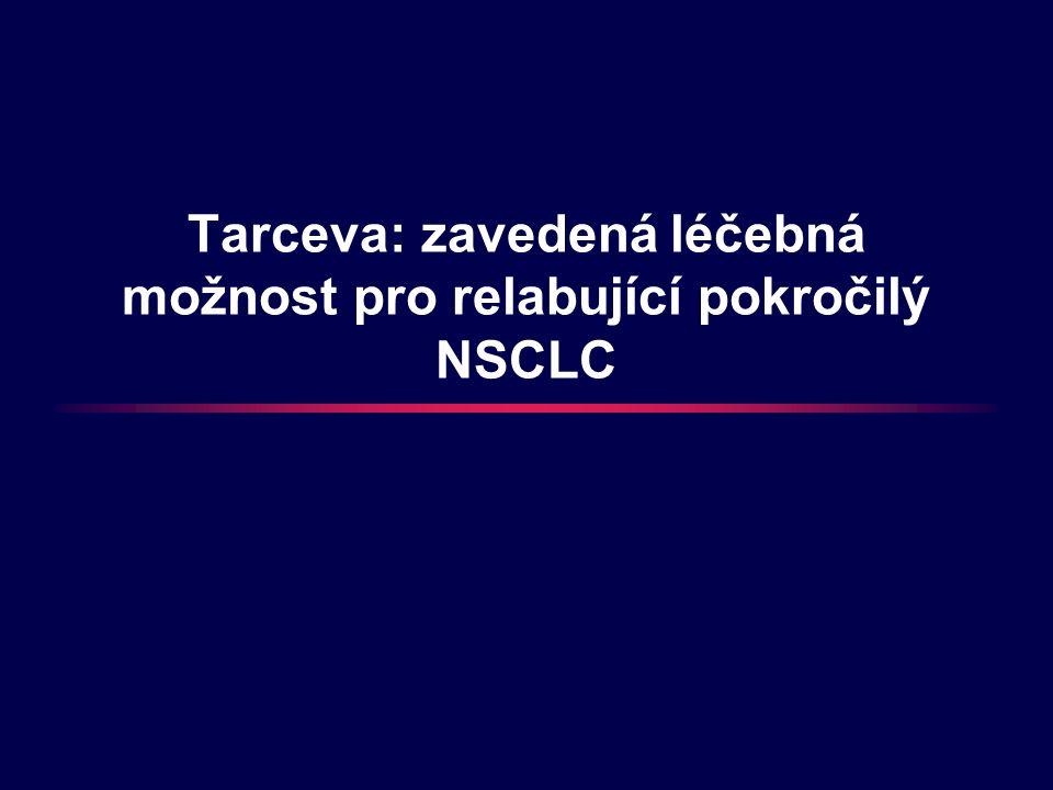 Tarceva: zavedená léčebná možnost pro relabující pokročilý NSCLC