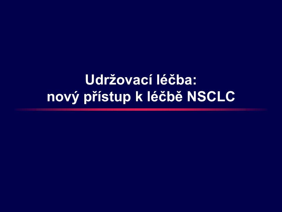 Udržovací léčba: nový přístup k léčbě NSCLC
