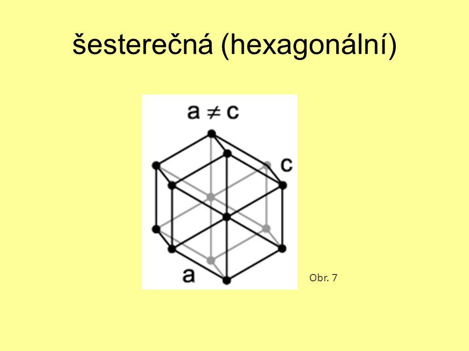 šesterečná (hexagonální) Obr. 7