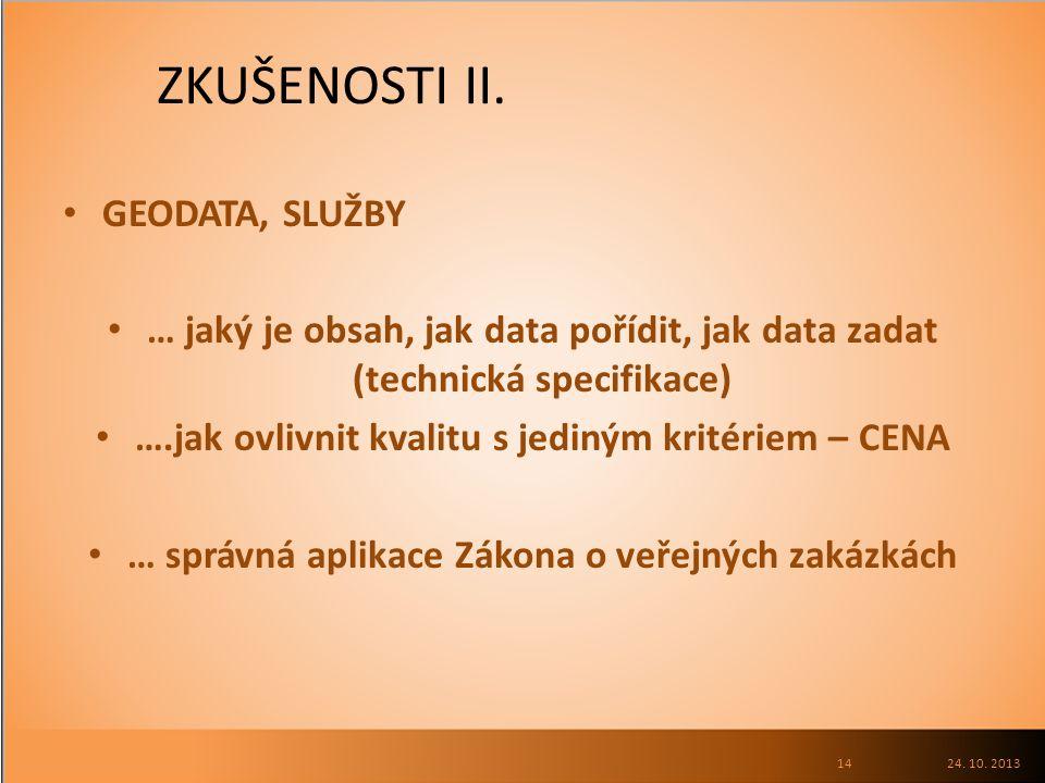 ZKUŠENOSTI II.