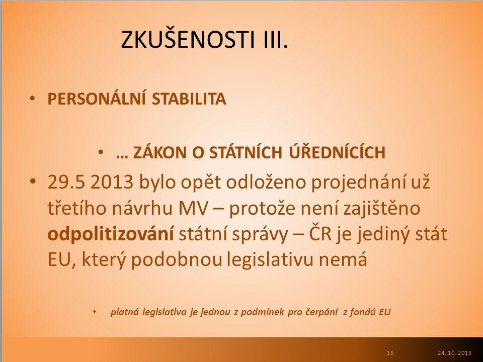 ZKUŠENOSTI III.