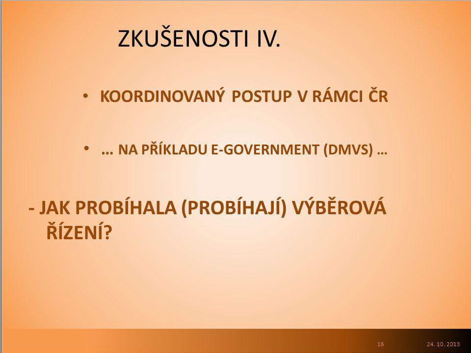 ZKUŠENOSTI IV.