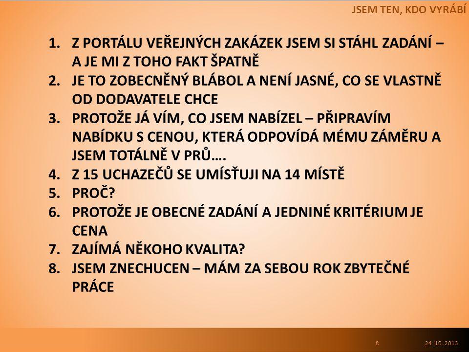 ÚOHS – KDYŽ SE NĚCO ZVRTNE – ZÁKON O VEŘEJNÝCH ZAKÁZKÁCH 24. 10. 201319 ZDROJ – www.uhos.cz