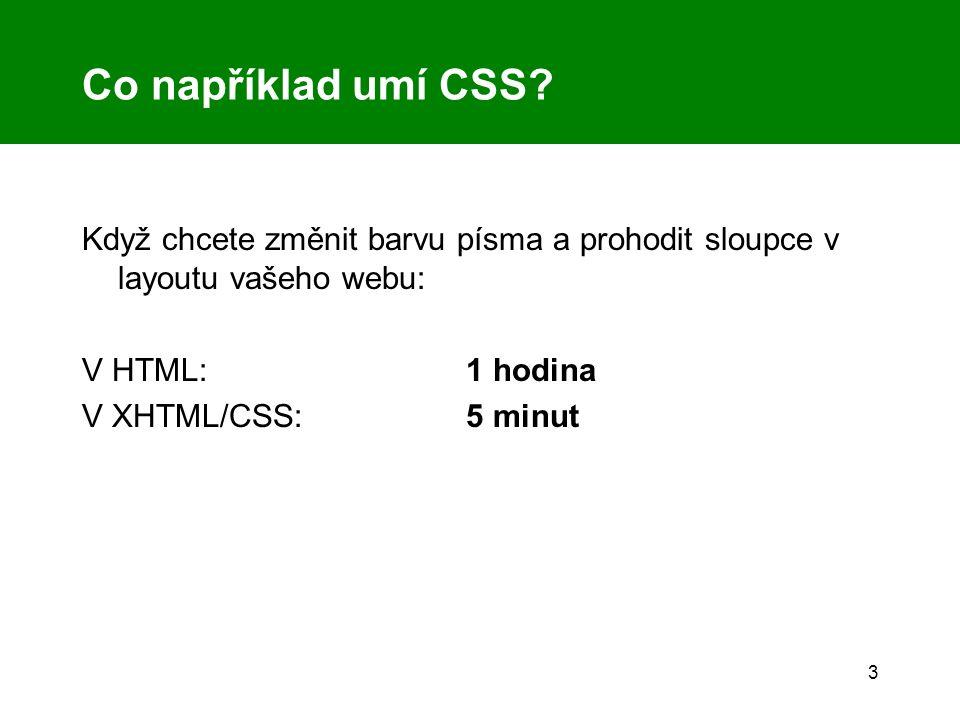3 Co například umí CSS.