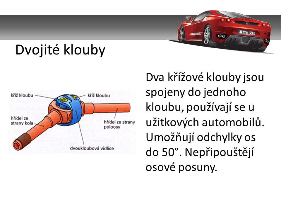 Jedná se o elastické bezúdržbové klouby, které umožňují velmi malou odchylku os a změnu délky.