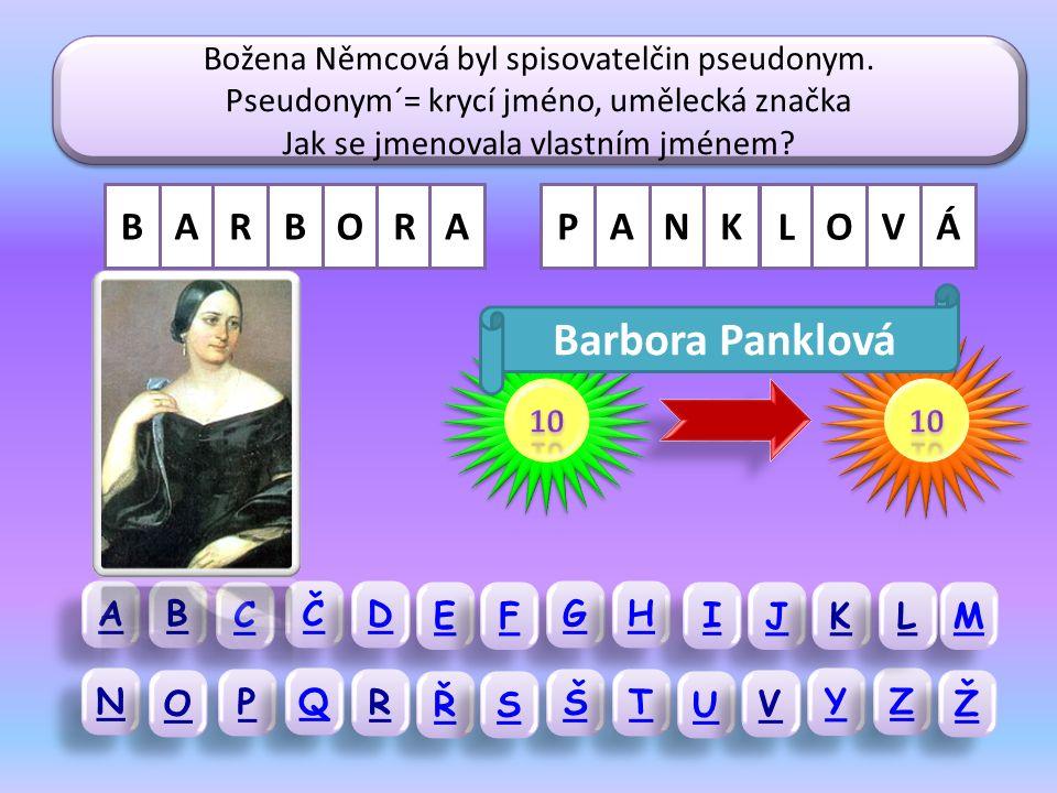Božena Němcová sepsala také několik sbírek pohádek.