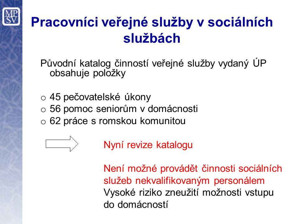 Sociální služby obcí Za sociální služby lze považovat pouze ty, které jsou zaregistrované a poskytované podle zák.