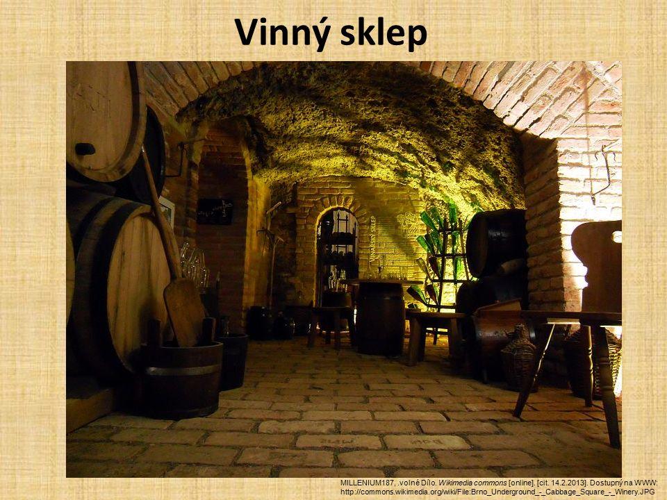 Vinný sklep MILLENIUM187,.volné Dílo. Wikimedia commons [online].